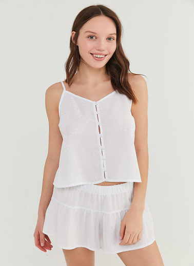 Penti Bridal Frill Atlet şort Takımı  Kadın  Pijama Takımı  Ana Kumaş Vıscose 100,00 Ana Kumaş Vıscose 100,00   Beyaz